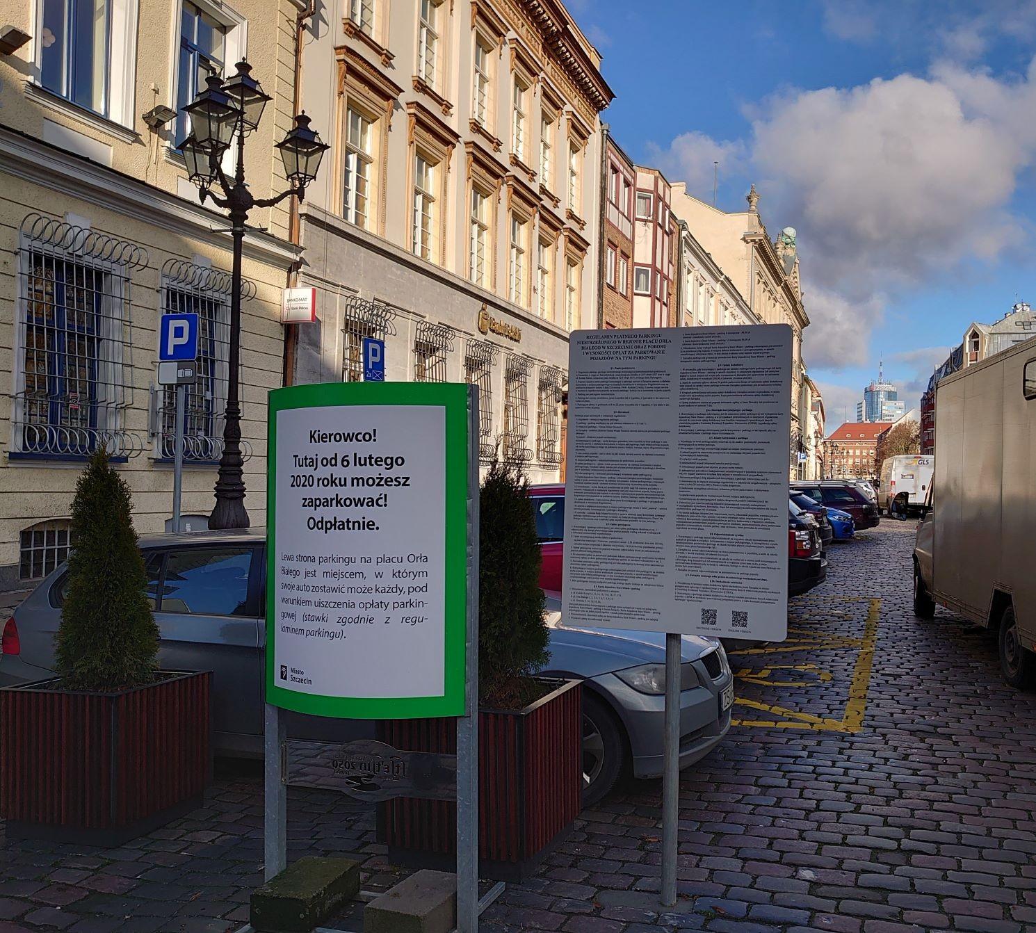 Od jutra nowe zasady parkowania na placu Orła Białego